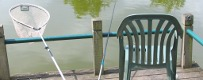 Angling net and chair